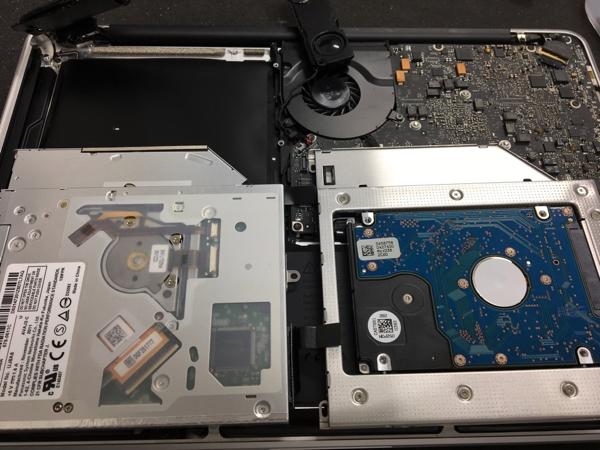 魔改造SSDとHDD MacBook Pro